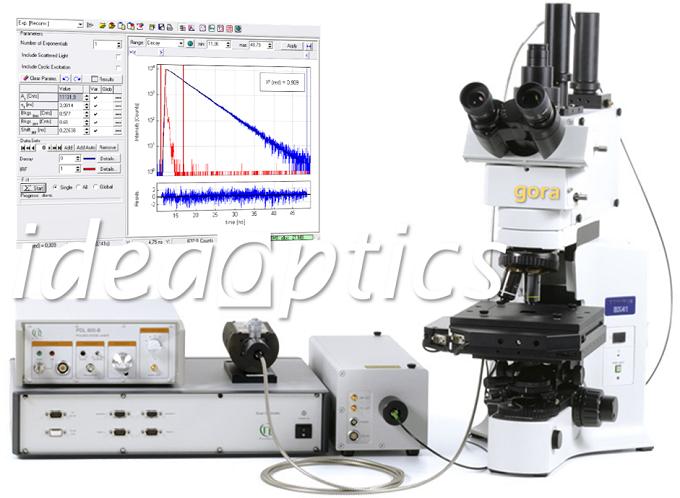 采用复享 gora 共焦显微系统和 PicoQuant TCSPC 模块的共焦显微荧光寿命系统