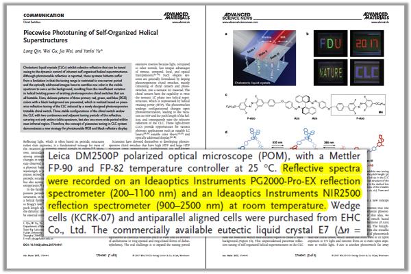 文章对复享光学光纤光谱仪相关产品的标注